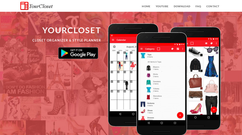 YourCloset Landing Page