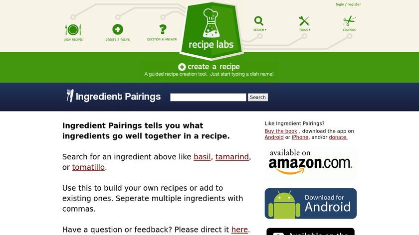 Ingredient Pairings Landing Page