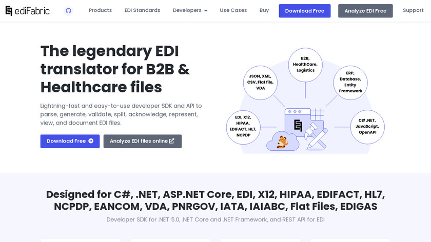 EdiFabric Landing Page