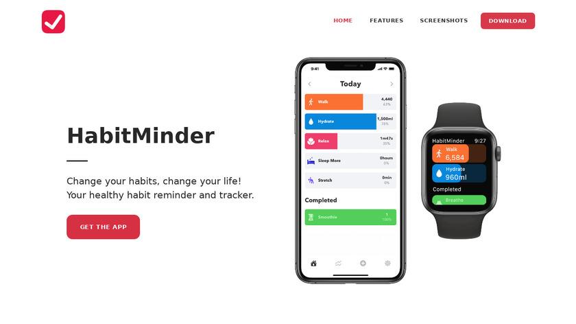 HabitMinder Landing Page