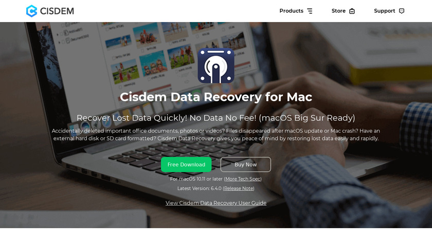 Cisdem Data Recovery Landing Page