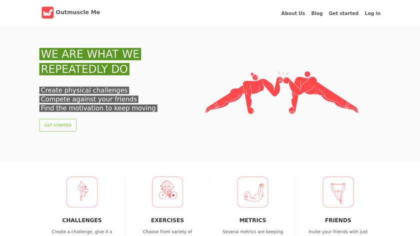 Outmuscle Me Landing Page