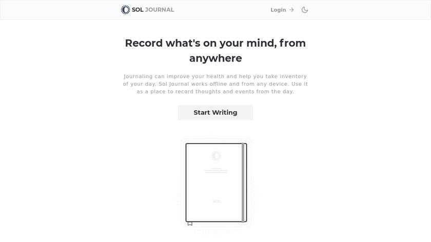 Sol Journal Landing Page