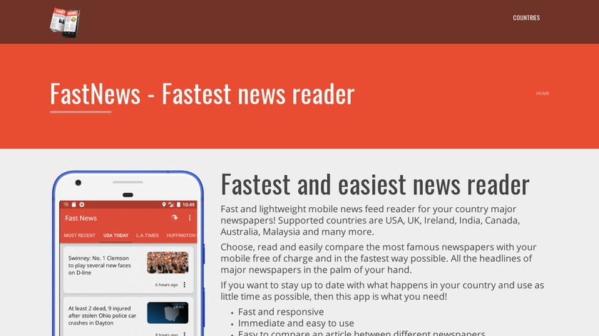 FAST NEWS Landing Page