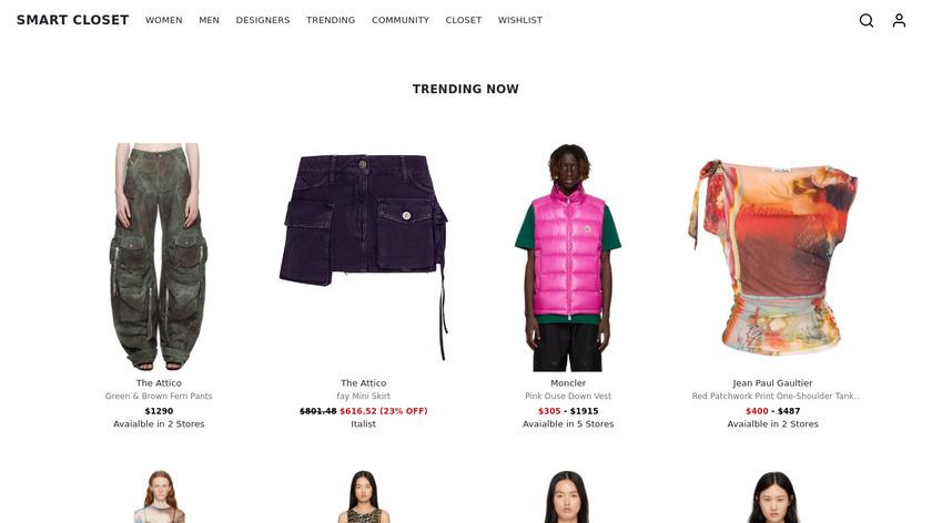 Smart Closet - Fashion Style Landing Page