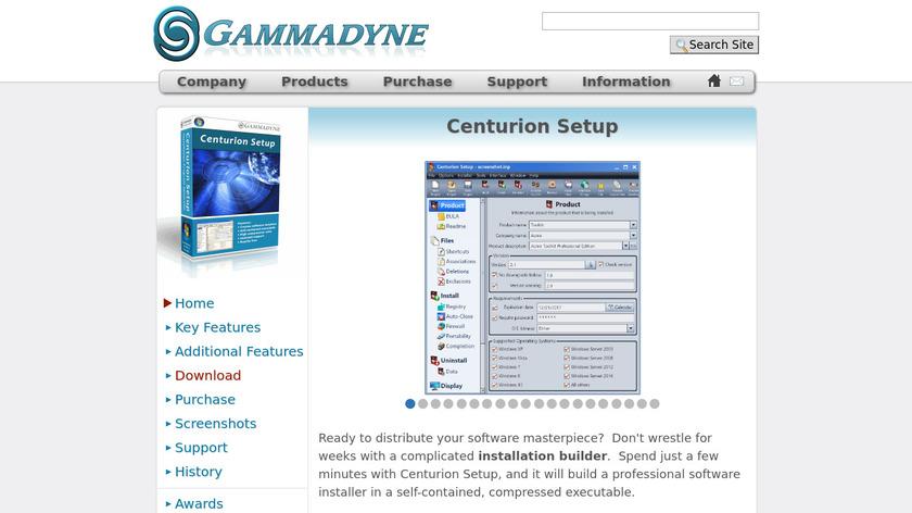 Centurion Setup Landing Page