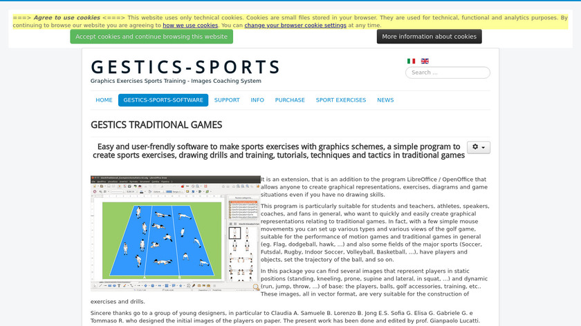 GESTICS TRADITIONAL GAMES Landing Page