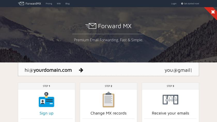 ForwardMX.io Landing Page