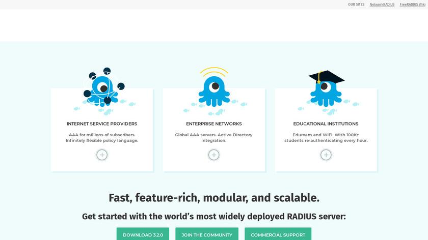 FreeRadius Landing Page