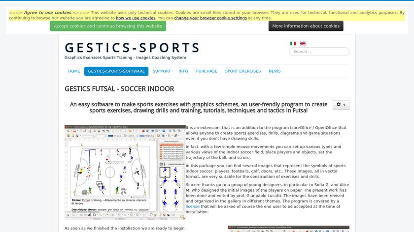 sportscoachingsystem.com GESTICS FUTSAL Landing Page