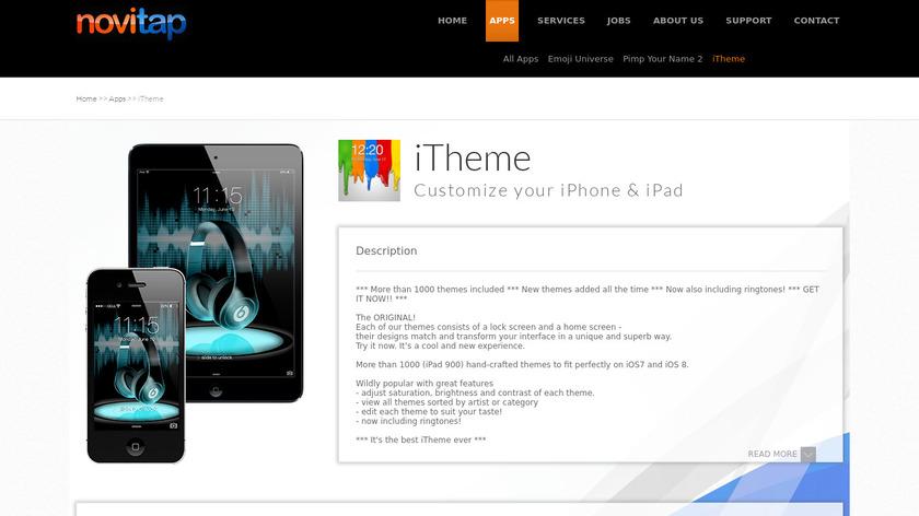 iTheme Landing Page