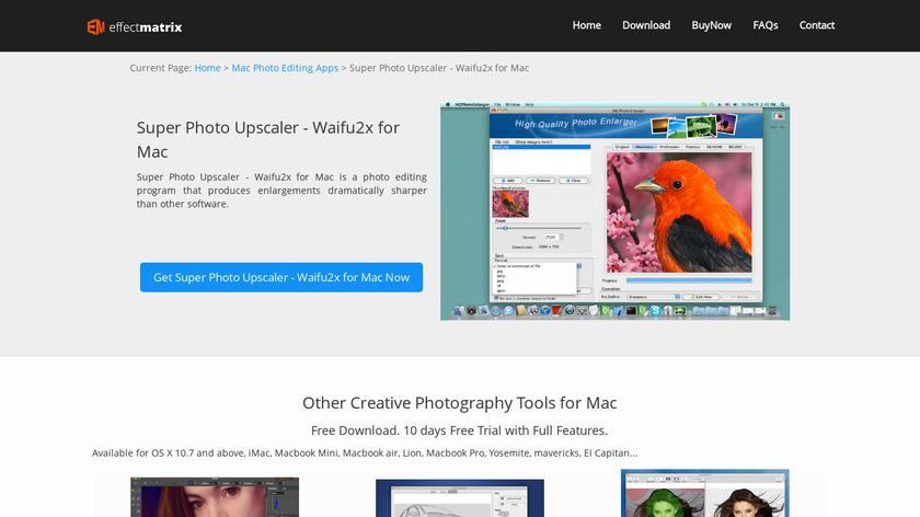 HQ Photo Enlarger Landing Page