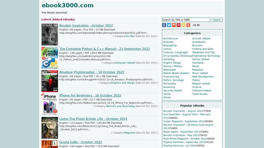 Ebook3000 Landing Page