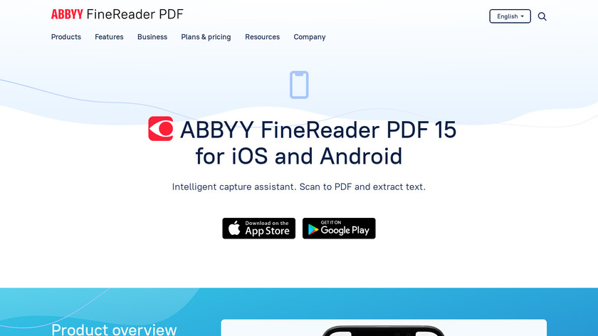 ABBYY FineScanner AI Landing Page