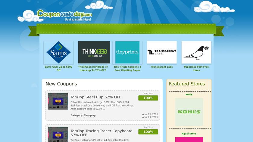CouponCodeDay Landing Page