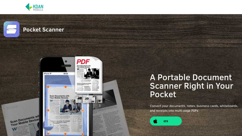 Pocket Scanner Landing Page