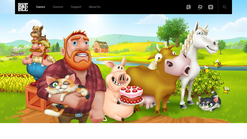 Hay day Landing Page
