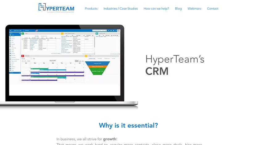 HyperTeam CRM Landing Page