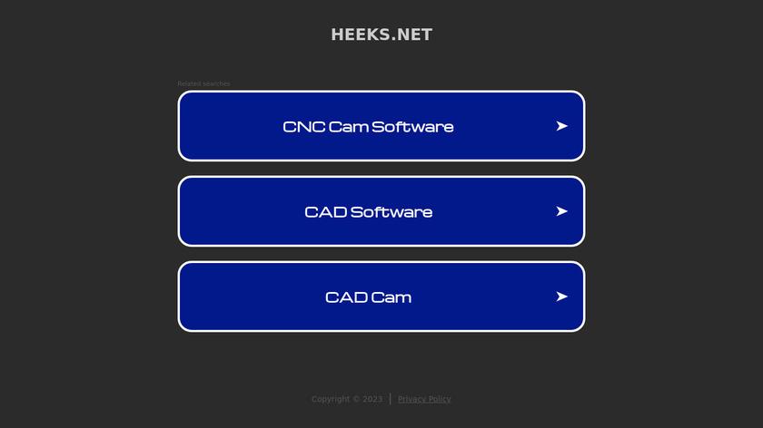 HeeksCAD Landing Page