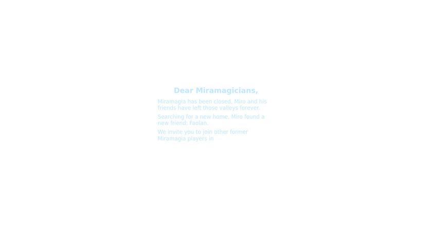 Miramagia Landing Page