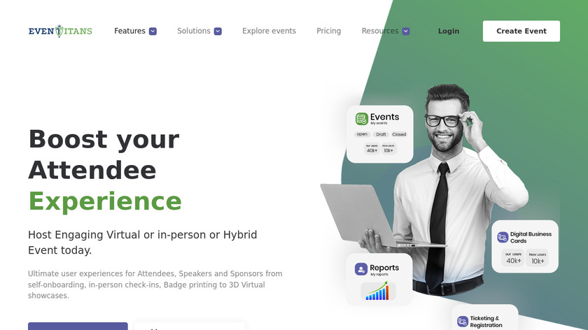 EventTitans Landing Page