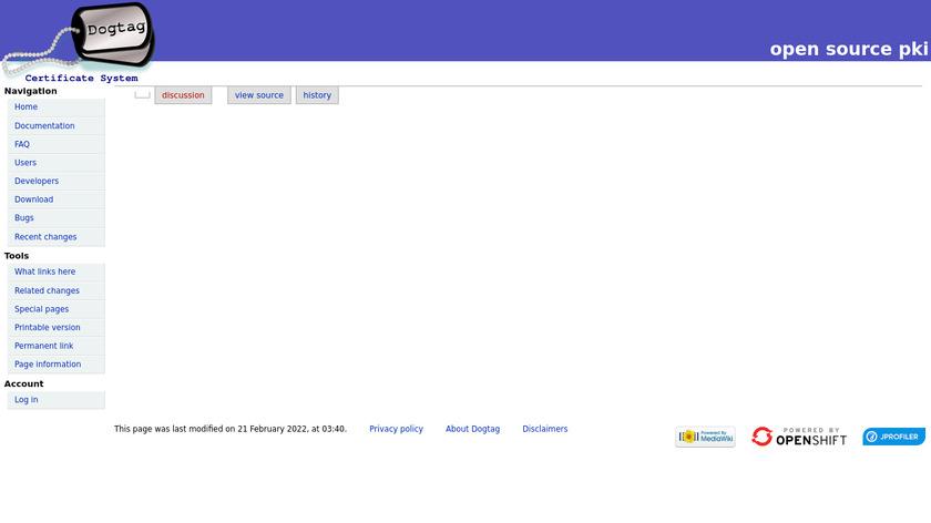 Dogtag PKI Landing Page