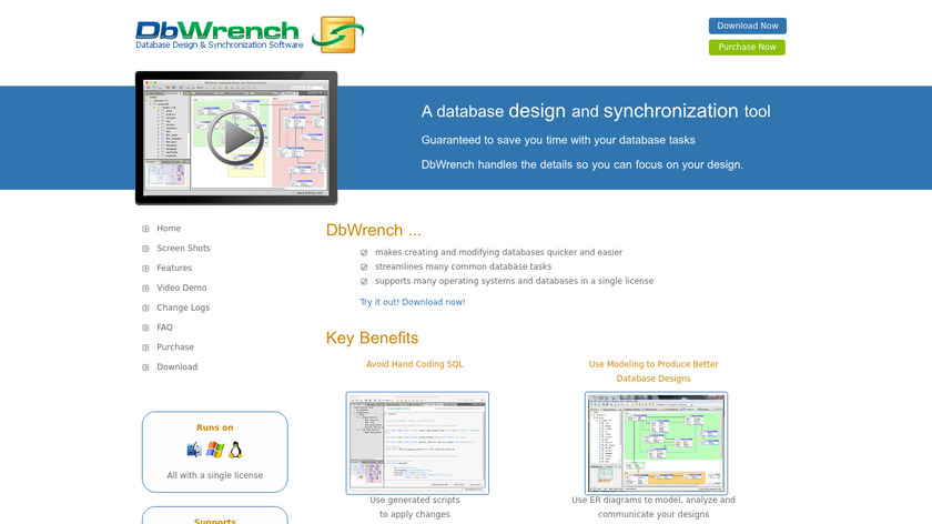 DbWrench Landing Page