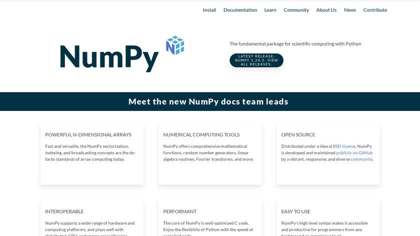 NumPy Landing Page
