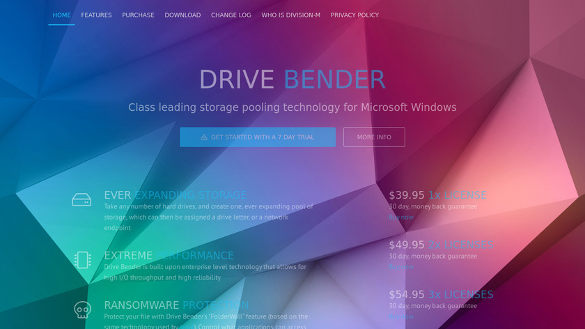 Drive Bender Landing Page