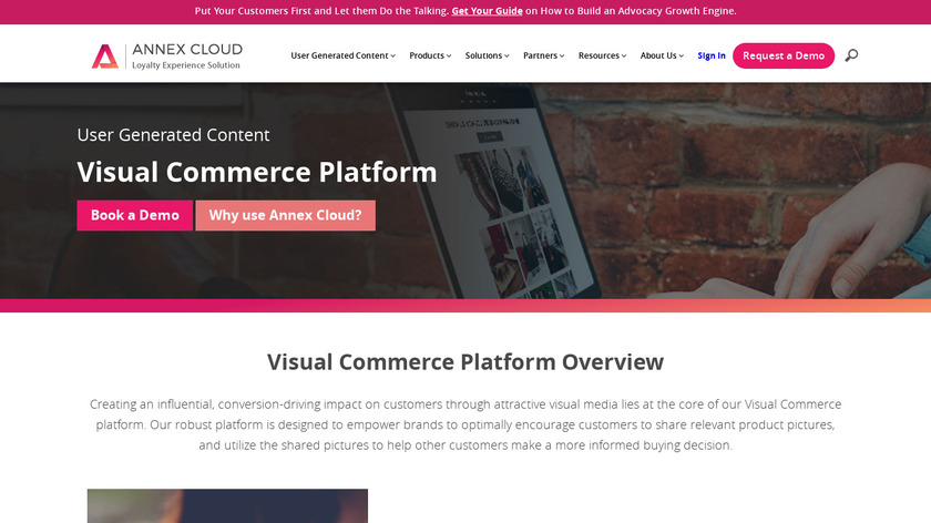 Annex Cloud Visual Commerce Landing Page