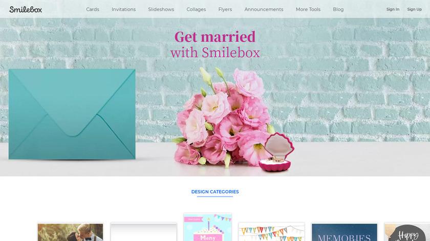 Smilebox Landing Page