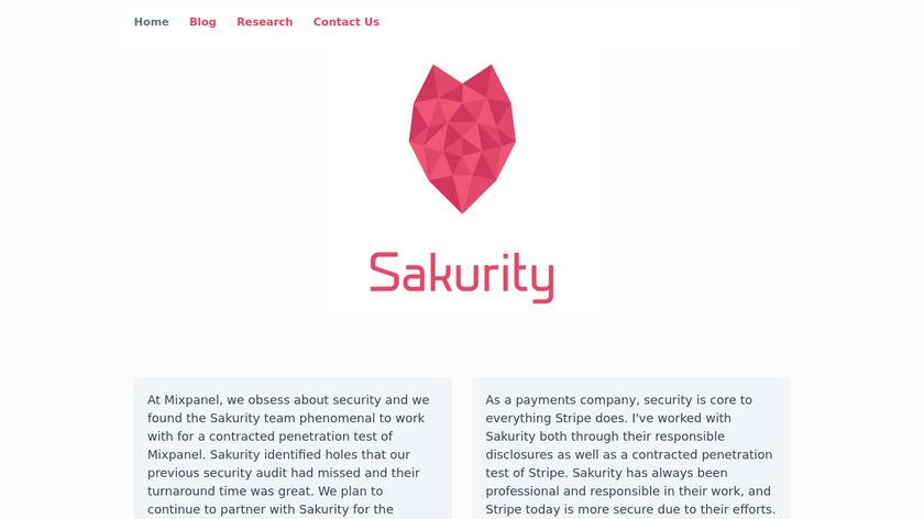 Sakurity Landing Page