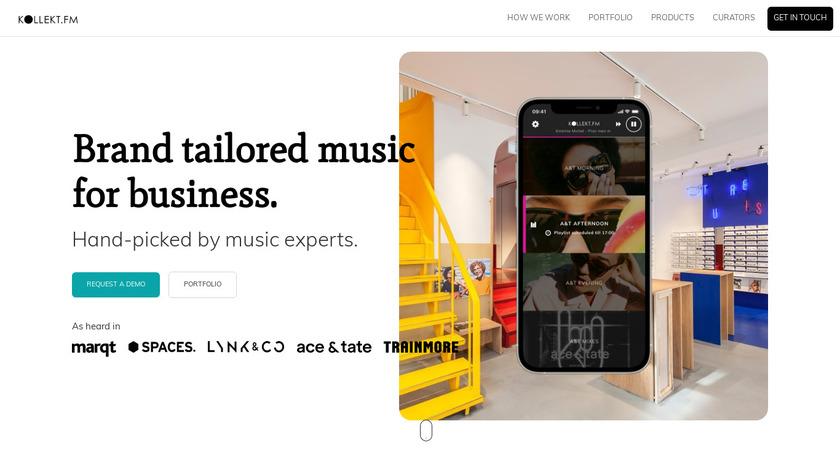 KOLLEKT.FM Landing Page