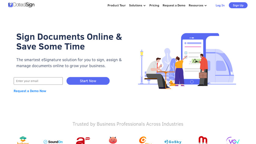 DottedSign Landing Page