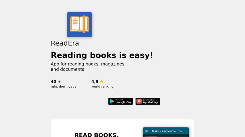 ReadEra Landing Page