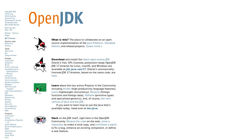 OpenJDK Landing Page