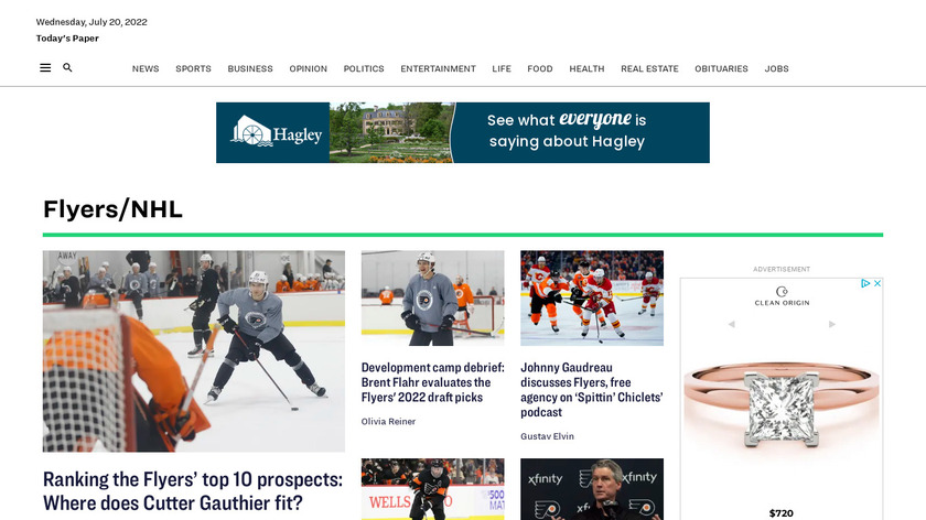 Philly Pro Hockey Landing Page