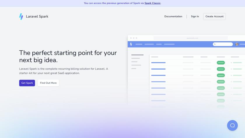 Laravel Spark Landing Page