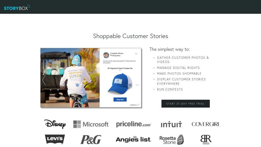 StoryBox Landing Page