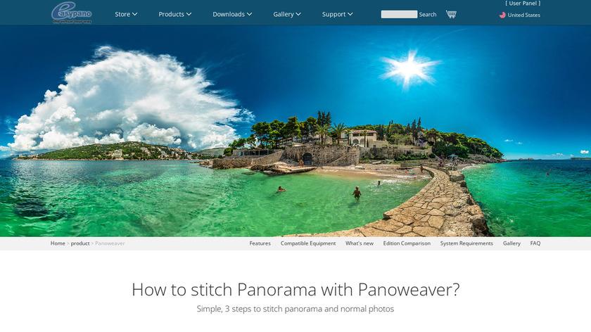 Panoweaver Landing Page