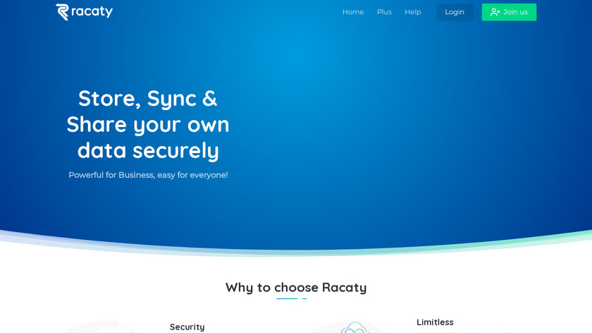 Racaty Landing Page