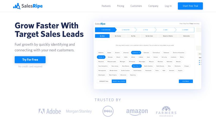 SalesRipe Landing Page