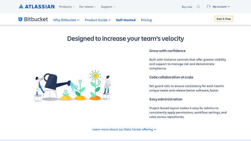 Atlassian Bitbucket Server Landing Page