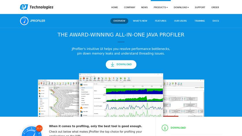 JProfiler Landing Page