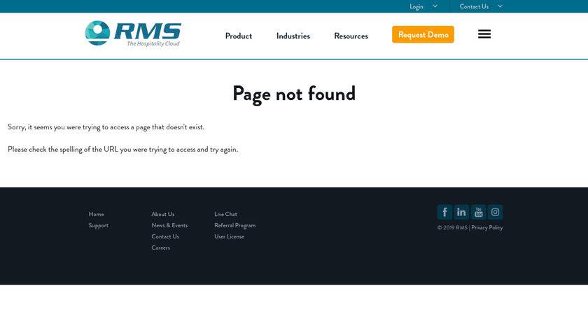 RMS Campground Landing Page