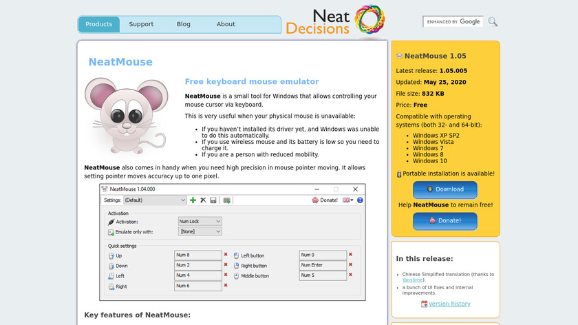 NeatMouse Landing Page