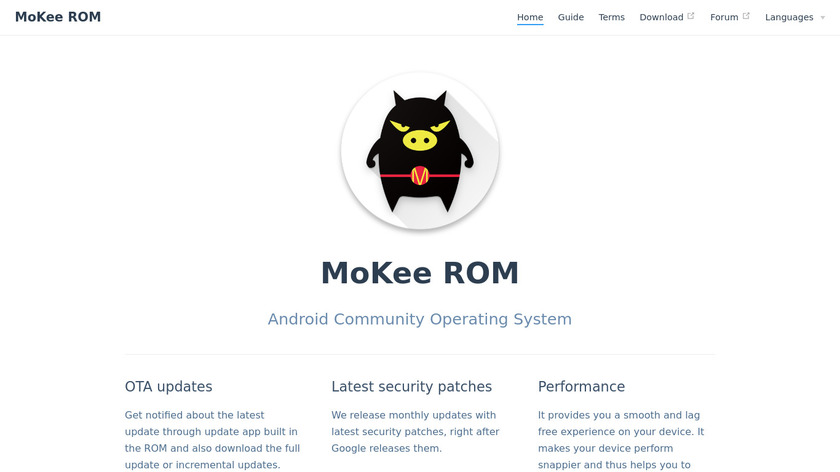 Mokee Landing Page