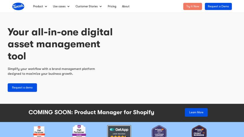 Tweak.com Landing Page