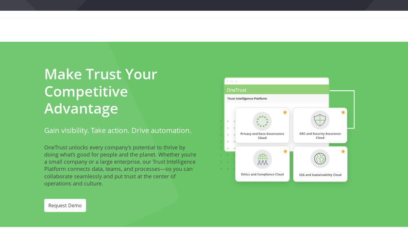 OneTrust Landing Page