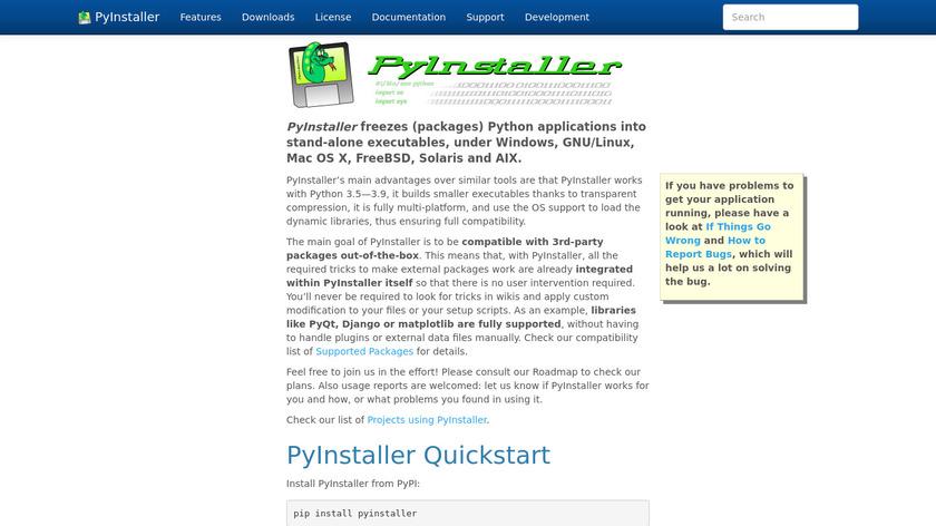 PyInstaller Landing Page
